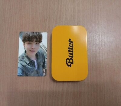 BTS Butter OFFICIAL Weverse Pre-Order Benefit Cream Case + Suga Photocard Set