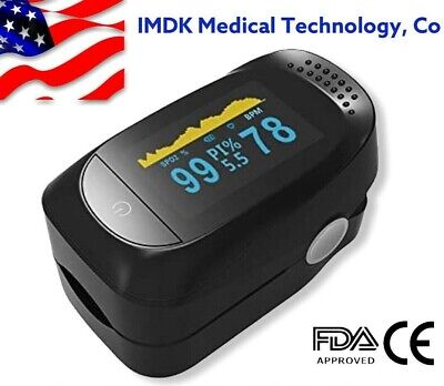 Finger Pulse Oximeter Blood Oxygen Perfusion Index Heart Rate Monitor Alarm
