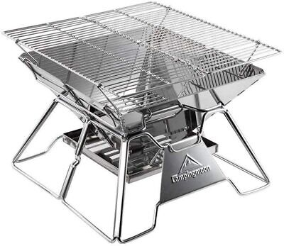 Newcamping Moon 2 Height Adjustable Fire Pit Bbq Stove With Storage Bagk