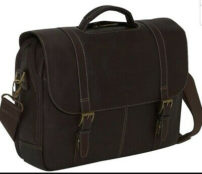 Samsonite Columbian Leather Brown Saddlebag Briefcase Messenger Laptop Case