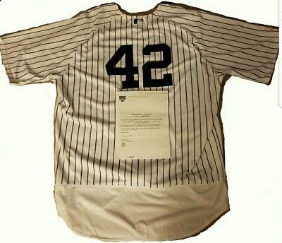 4db860e9af6 CC Sabathia NY Yankees 2017 Jackie Robinson Day Game Used Jersey MLB    Steiner