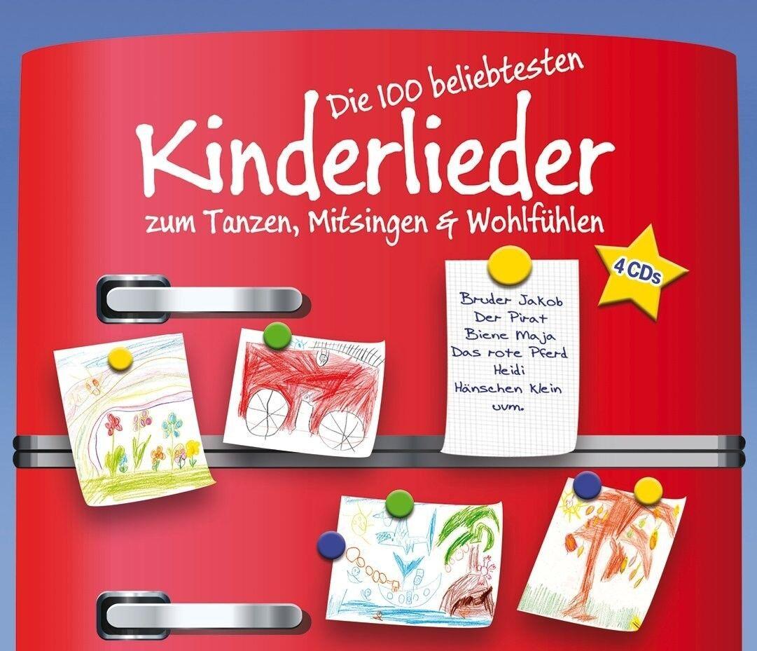 DIE 100 BELIEBTESTEN KINDERLIEDER 4 CD BOX-SET NEU