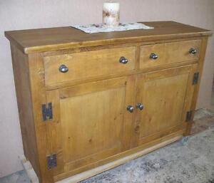 SIDEBOARD-DRESSER-BASE-SOLID-WOOD-CHUNKY-RUSTIC-PLANK-PINE-ROUGH-SAWN-FURNITURE