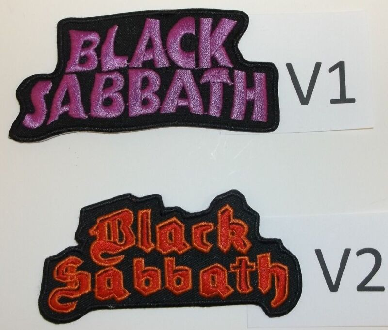 Black Sabbath Ozzie Osborne Patch Patches~2 Versions~Embroidered~Iron Sew On