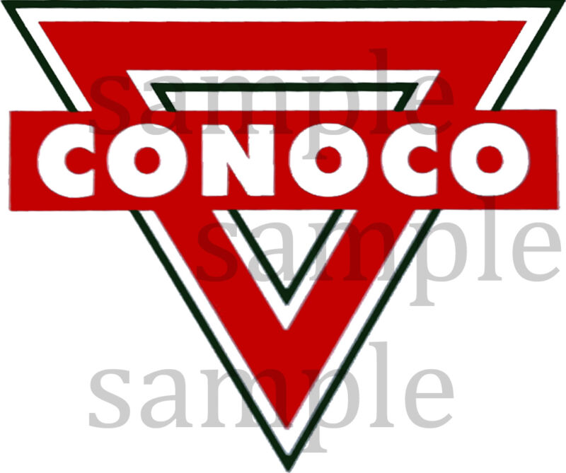 4 INCH CONOCO TRIANGLE DECAL