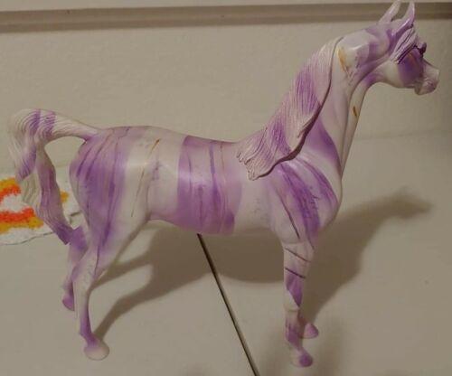 Peter Stone Arabian Custom CM Purple Candy Stripe w/gold by Janis Whitcomb