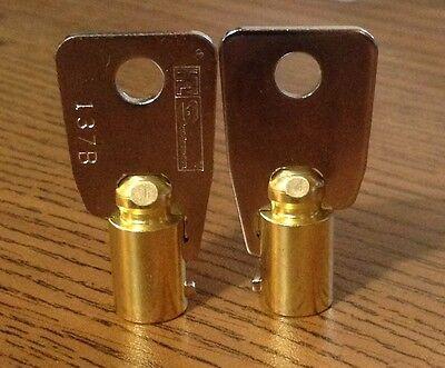 Tubular Key Blanks Ilco 1137b Brass 7 Pin X2