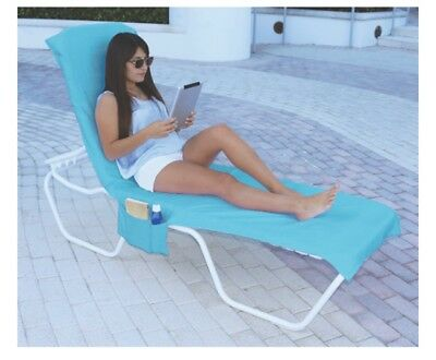 Terry Lounge Cover - Terry Lounger Cover For A  Loung Beach Chair