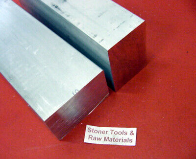 2 Pieces 1-12 X 2-12 Aluminum 6061 Flat Bar 4.5 Long T6511 Solid Mill Stock