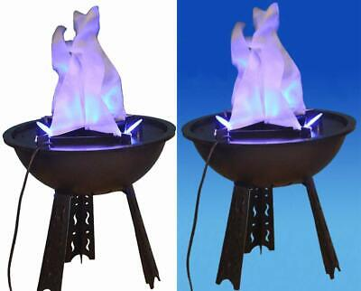 Halloween Themed Club (Electric LED Artificial 3D Fire Lamp Fake Flame for Halloween Club Theme)