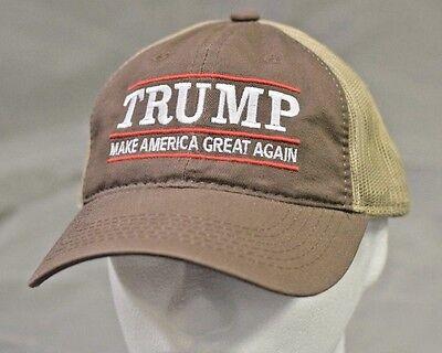 MAKE AMERICA GREAT AGAIN-Donald Trump Hat Republican 2016-Brown Tan Mesh Cap