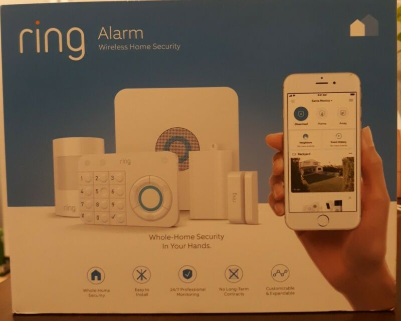 Ring Alarm Wireless Home Security Kit - White (4K11S70EN0) **New Factory Sealed*
