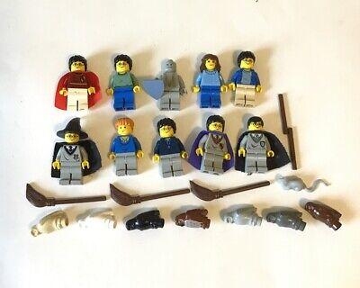 Lego Harry Potter Minifigures Lot 10 Vintage Accessories Owls Ron Hermoine