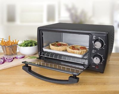 Small Mini Oven Cooker Compact Portable 9 Litre Home Table Top Grill Convenient
