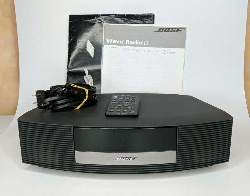 Bose Wave Radio II, Graphite Grey, Fully Functional w/ Remote + Manual