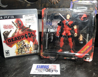 Deadpool (Sony PlayStation 3, 2013) PS3  With Figure
