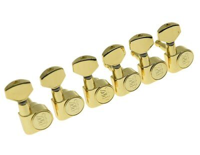 *NEW Wilkinson 6 In Line EZ-LOK Locking TUNERS 19:1 Gold WJN07-GD (EZ POST)