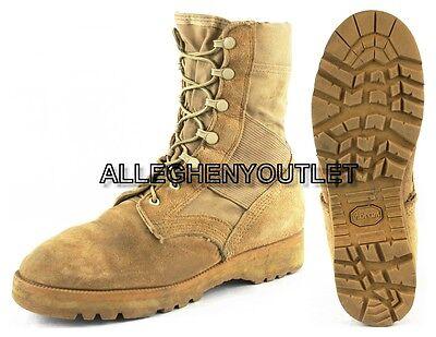 US Military HOT WEATHER COMBAT BOOTS Vibram Desert Tan Mens 8 R Womens 10 R EXC