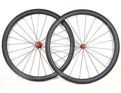 Straight Pull Carbon 40mm Clincher Wheel Powerway R36 Pillar 700C Road Bike Matt