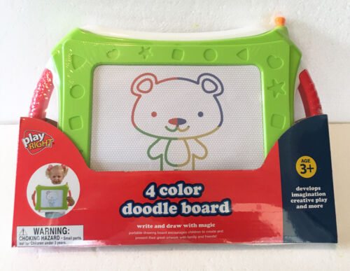 Doodle Board 4 Color Write and Draw with Magic Age 3+ New