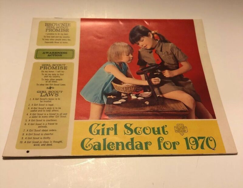 1970 GIRL SCOUT CALENDAR - UNUSED