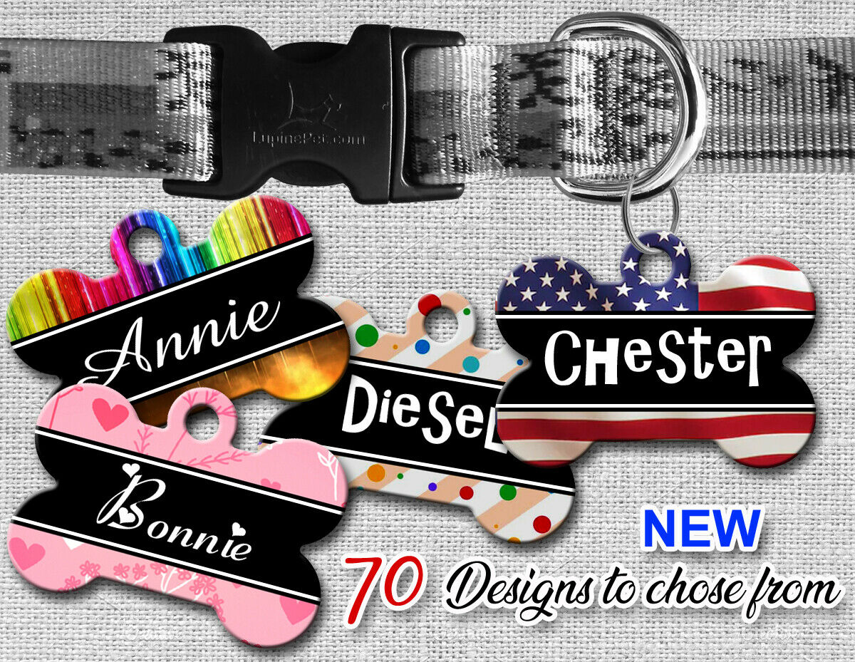 Personalized Pet Name ID Tags for Dog, Custom Double Sided C