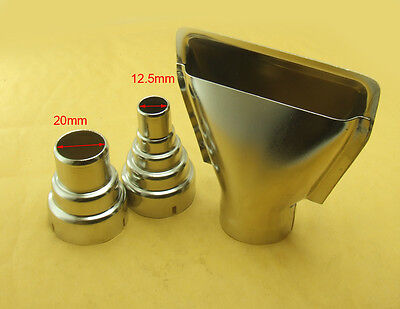 3pcs Metallic Iron Round 35mm Nozzle For 1600w 1800w 2000w Handheld Hot Air Gun