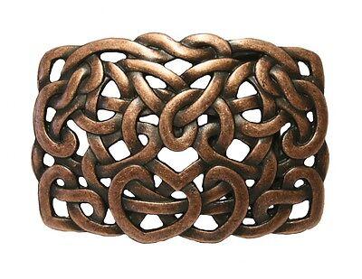 Gothic Mittelalter Buckle Gürtelschnalle Keltische Knoten in altkupfer