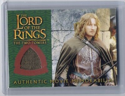 LOTR TTT Lord Of The Rings Faramir Ranger Outfit memorabilia costume swatch card (Lotr Outfits)