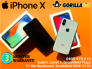 IPhone X 256GB 64GB comes with all accessories & warranty