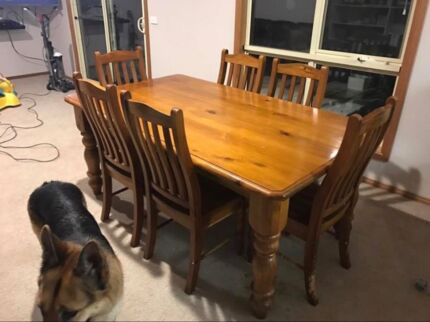 Solid Wooden table and chairs $100