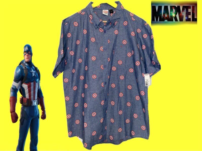 Kohls Marvel Comics Captain America Dress Shirt XL Retail $36 NWT