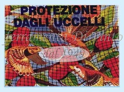 Red Anti Pájaros Protección Nylon M 2X10 Para Plantas Flores Jardín Palomas