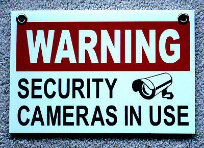 Warning Security Cameras In Use Sign 8x12 With Grommets Surveillance 25 Off 3