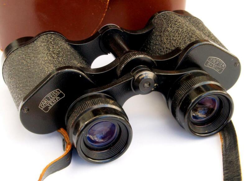 Carl Zeiss Jenoptem 8x30W Wide Binoculars DDR- GENUINE & Leather Case VGC c1970