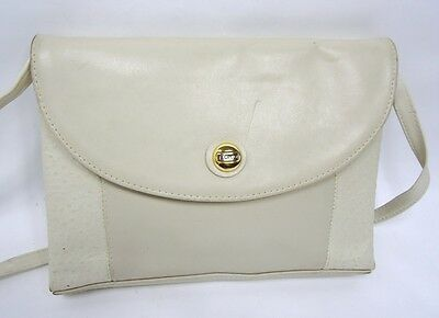 LOVELY L CREDI OSTRICH AND LEATHER SHOULDER BAG TOTE for sale  Shipping to Ireland