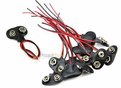 10 Pcs 9v Battery Connector Snap Clip Wire Lead 9 Volt Holder New Set Of Ten