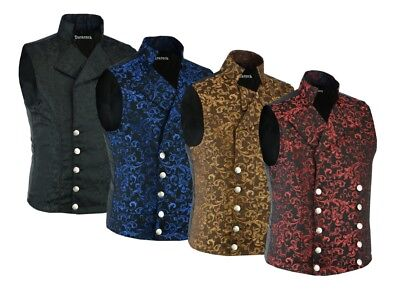 Men's Steampunk Double-breasted Waistcoat Vest Gothic/Western-Reenactment/USA](Steampunk For Men)