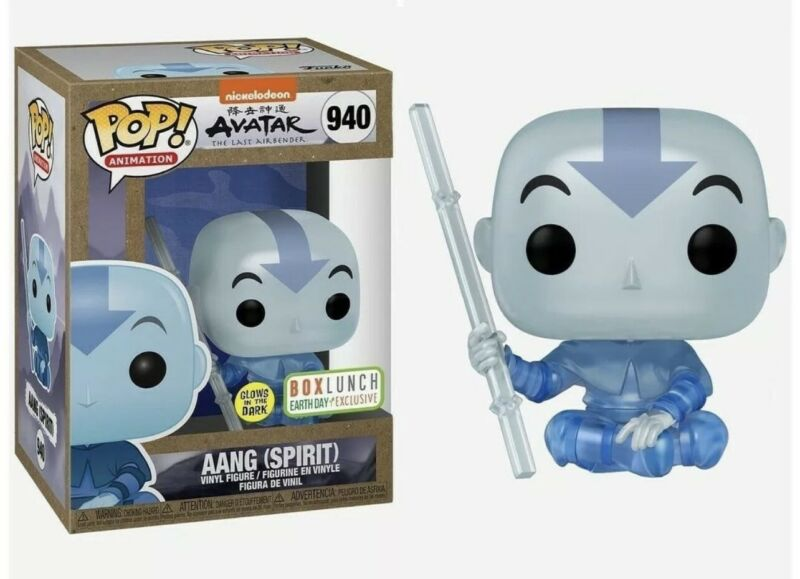 Funko Pop!  Avatar: Aang (Spirit) #940 GITD: BoxLunch Exclusive w Case Confirmed