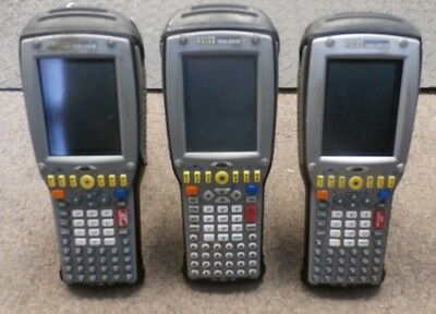 Lot Of 3 Psion Teklogix 7535 Barcode Scanner