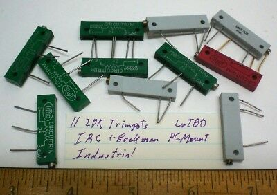 11 Trim Pots Assorted Pc Mount 20k Ohms Indust.irc Beckman Lot 80 Made In Usa