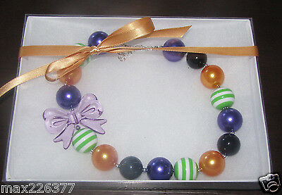 Halloween Jewlery (New Acrylic Chunky Beads Bubblegum Gumball Jewlery GIRL Necklace)
