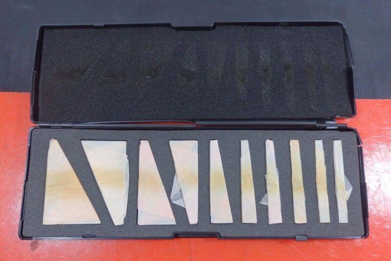 "Angle Blocks Set 1° Min. 30° Max. 3"" OAL Steel 10 Pcs"