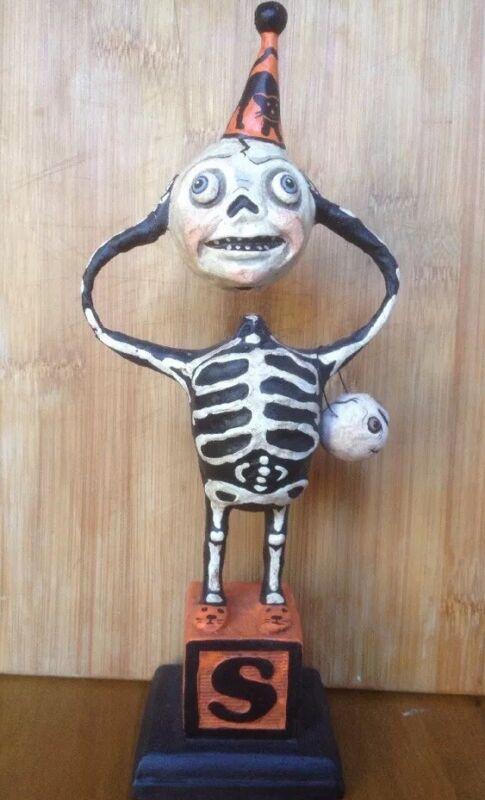 Bethany Lowe Debra Schoch Hop Hop Jingle Boo Halloween Creepy Skeleton--retired