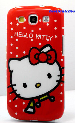 for samsung galaxy S3 phone case hello  kitty red white polka dot / S (Hello Kitty Phone Case For Galaxy S3)