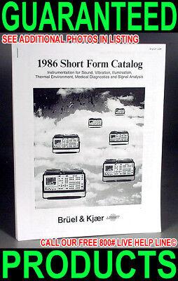 Bruel Kjaer Test Equipment Microphone Sound Vibration Measurement 1986 Catalog
