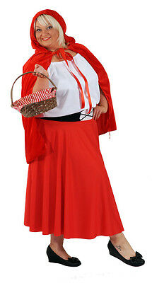 Red Riding Hood Fancy Dress All Plus (Red Riding Hood Kostüm Plus)