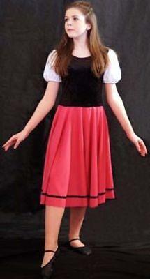 Chorus Line/Sound of Music VILLAGER BASIC DRESS Girls Dance Shows/Fancy - Chorus Line Kostüm