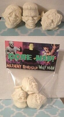 Universal Monsters Custom Pieces Aurora Models Gone MAD Replacement Heads Set