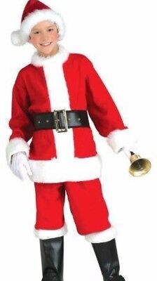 Kids Santa Claus Suit Costume Boys Child Girls Christmas - S 4-6 M 8-10 L12-14 - Boys Santa Suit